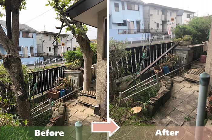 越谷市M.Aさん宅大木の伐採作業1