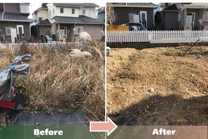 守谷市T.Aさんの草刈り作業