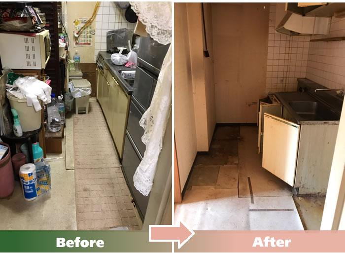 坂東市M.Kさん宅の不用品回収・便利屋エコグリーン